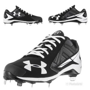 Under Armour Yard Low ST Black Baseball Cleats 13